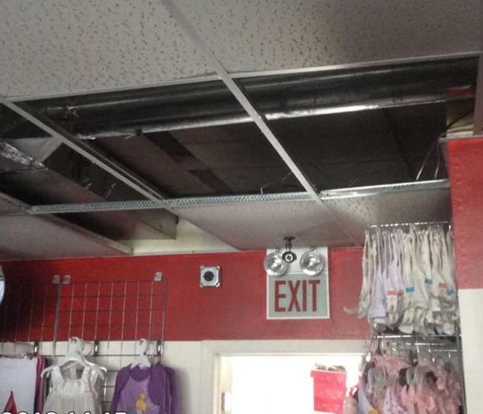 Commercial Water Damage Due to Roof Leak