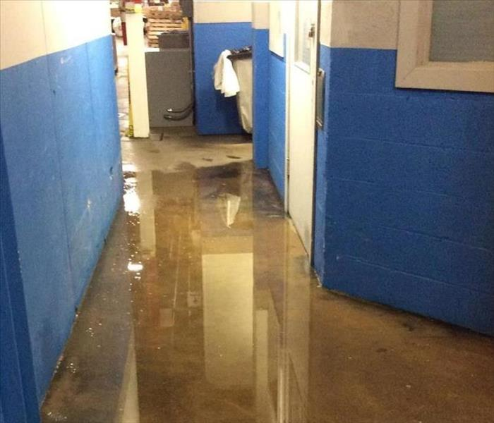 Warehouse with water damage