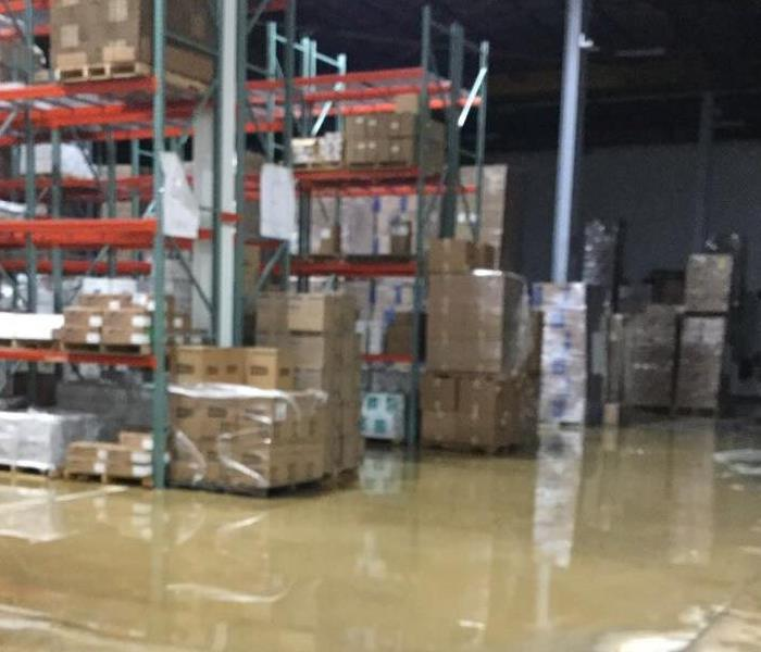 Commercial Warehouse Water Damage